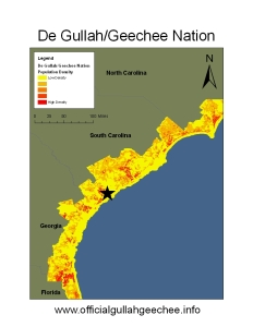De Gullah/Geechee Nation Map