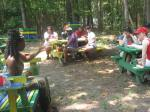 Students enjoy the garden after De Gullah Root Experience Tour.