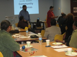 Rev. Jenkins-Boseman at Environmental Workshop