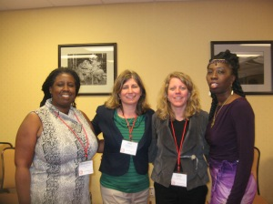 Jacqueline Patterson, Ann Baughman, Cara Pike, and Queen Quet