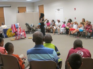 Queen Quet at Colleton County Memorial Library