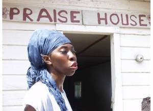 Queen Quet, Chieftess of the Gullah/Geechee Nation (www.QueenQuet.com) at the historic Mary Jenkins Praise House on St. Helena Island, SC in the Gullah/Geechee Nation.