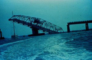 Charleston Bridge After Hugo