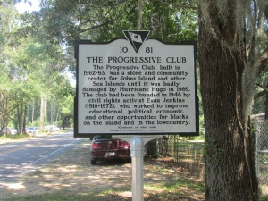 Progressive Club Historic Marker Side 1