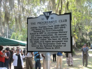 Progressive Club Historic Marker Side 2