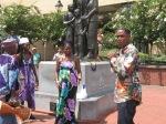 Gullah/Geechee ancestral tribute on River Street in Savannah, GA in the Gullah/Geechee Nation.