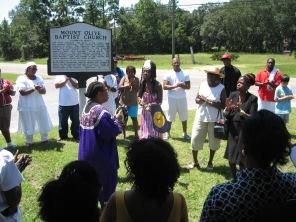 Gullah/Geechee Libation at Mt. Olive in Nassauville, FL in the Gullah/Geechee Nation