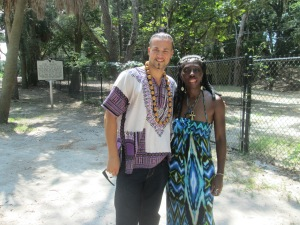 Baron Ambrosia and Queen Quet on St, Helena Island, SC in the Gullah/Geechee Nation