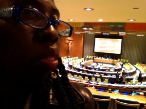 Queen Quet in the UN General Assembly Chambers