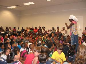 Queen Quet at the Colleton County Memorial Library