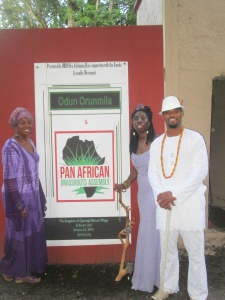 Queen Quet, Oba Adefunmi, and Elder Towne at PAGA