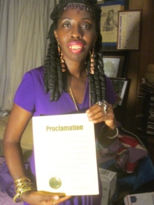 Queen Quet Receives HHI Proclamation
