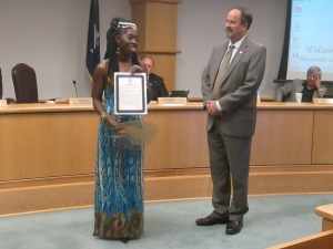 Queen Quet Receives Charleston County Proclamation
