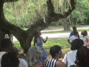 Queen Quet, Chieftess of the Gullah/Geechee Nation (www.QueenQuet.com) leads De Gullah Root Experience Tour. www.gullahgeechee.us