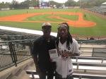 Queen Quet & Kwame Sha at Charleston RiverDogs Stadium