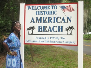 Queen Quet at American Beach, FL