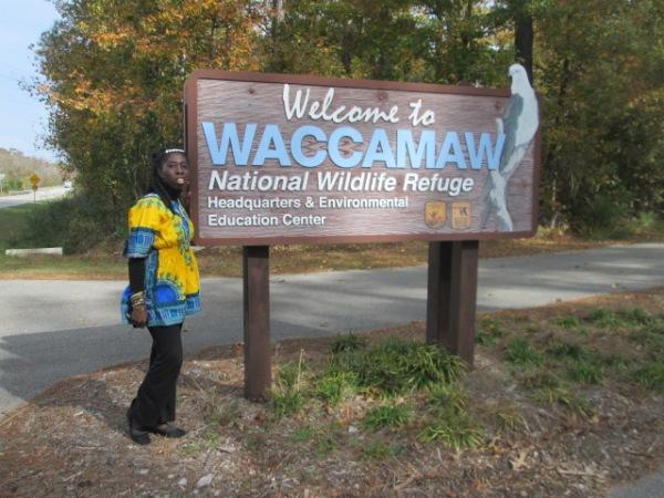 Queen Quet at Waccamaw National Wildlife Refuge
