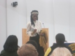 Queen Quet at the St. Helena Branch Library