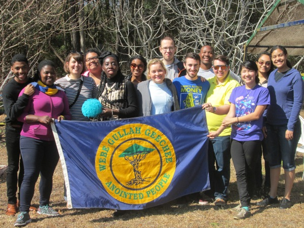 Queen Quet, Chieftess of the Gullah/Geechee Nation (www.QueenQuet.com) with volunteers from Rollins College on St. Helena Island, SC in the Gullah/Geechee Nation.
