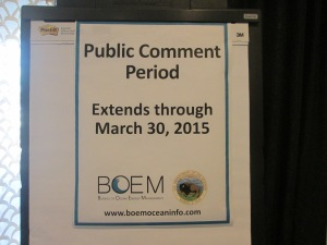 BOEM Public Comment Period Ends March 30, 2015