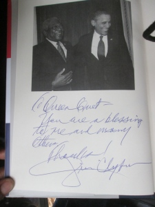 "Inscription to Queen Quet in ""Blessed Experiences"""