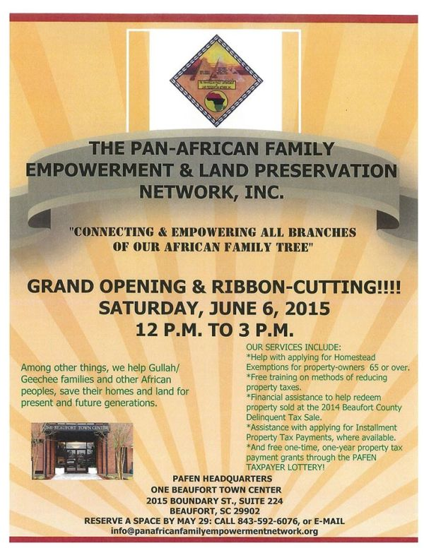 Pan African Family Empowerment & Land Preservation Network Ribbon Cutting