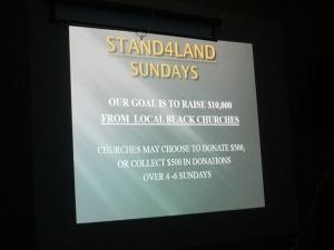 PAFEN Stand4Land Sundays