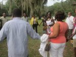 Queen Quet Leads Healing Circle Libation Ceremony