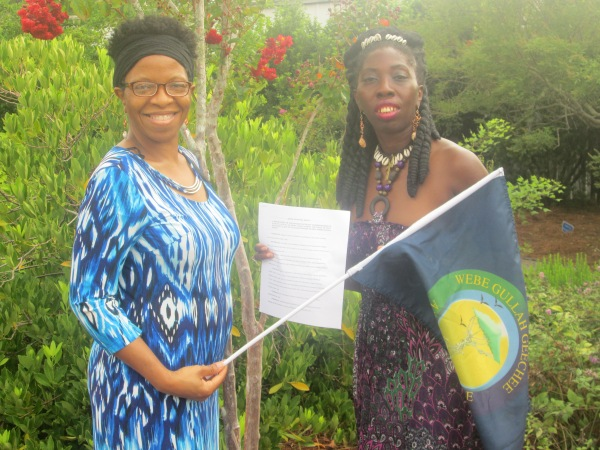 Queen Quet, Chieftess of the Gullah/Geechee Nation (www.QueenQuet.com) and Representative Glenda Simmons-Jenkins received the Nassau County, Florida Gullah/Geechee Nation Appreciation Week proclamation on behalf of their people.