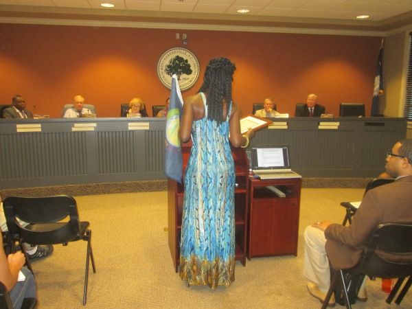 Queen Quet at Jasper County Council