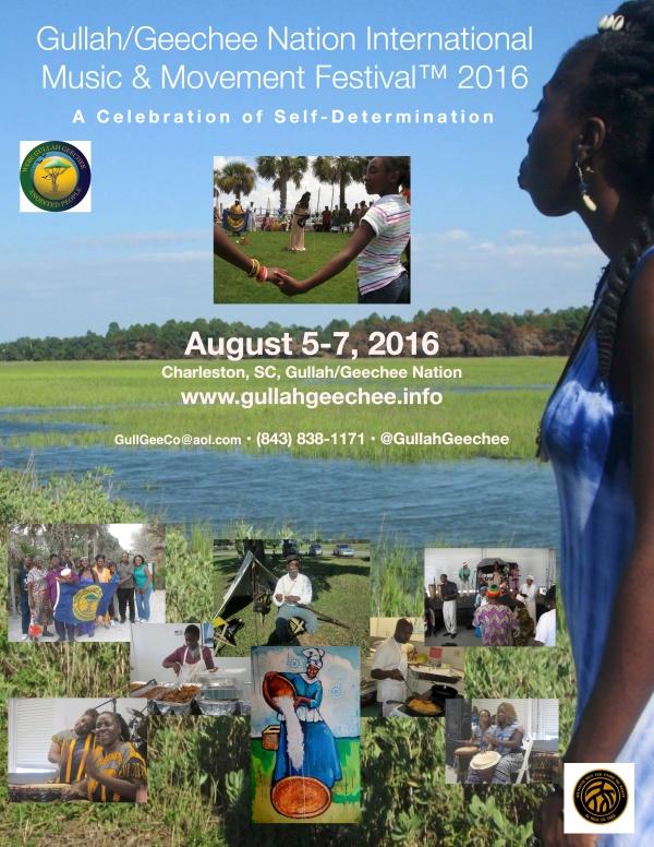 Gullah/Geechee Nation International Music & Movement Festival 2016 Poster