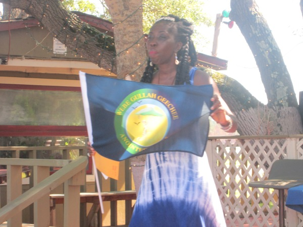 Queen Quet with Gullah/Geechee Nation Flag