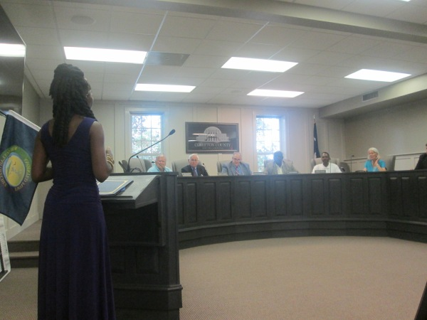 Queen Quet at Colleton County Council