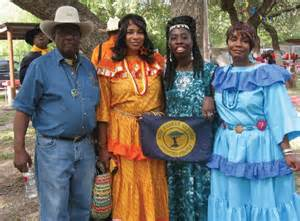 Chiefs Queen Quet & Dub Warrior at Seminole Days in Bracketville, TX
