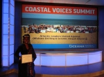 Queen Quet, Chieftess of the Gullah/Geechee Nation honored for excellence at the Coastal Voices Summit.