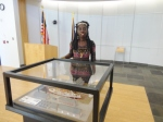 """Queen Quet, Chieftess of the Gullah/Geechee Nation (www.QueenQuet.com) was one of the """"Friends of Fort Fremont"""" at the unveiling of the diorama of the US Naval Station, Port Royal at Parris Island which is housed at the landmark St. Helena Branch Library."""