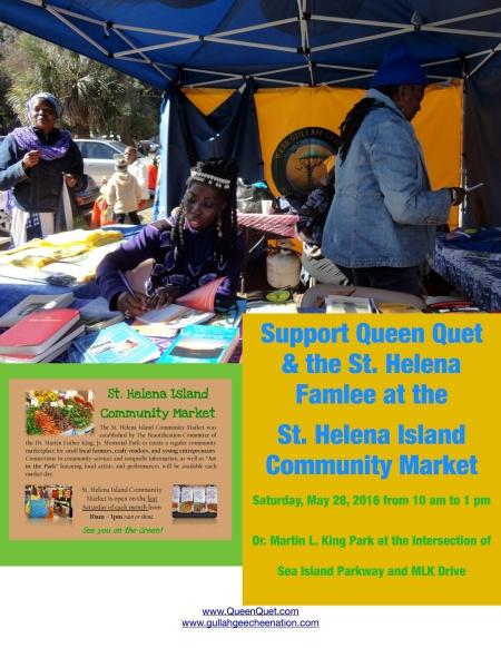 Queen Quet at St. Helena Market
