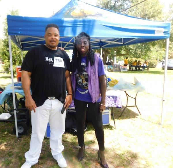 Filmmaker Ricky Kelly and Queen Quet, Chieftess of the Gullah/Geechee Nation