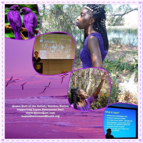Queen Quet of the Gullah/Geechee on Lupus Awareness Day!