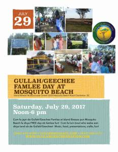 Gullah/Geechee Famlee Day at Mosquito Beach 2017
