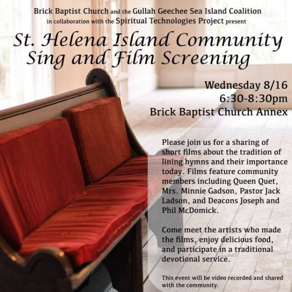 St. Helena Island Community Sing & Film Screening