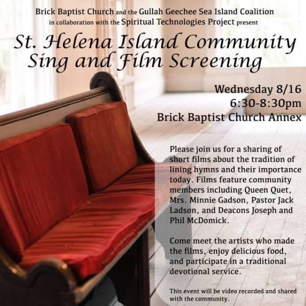 St. Helena Island Community Sing & Film Screening