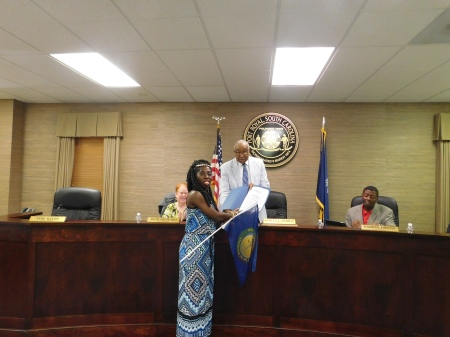 Queen Quet and Mayor Samuel Murray at Port Royal, SC