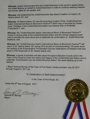 Port Royal Gullah/Geechee Nation Appreciation Week Proclamation Pg 2