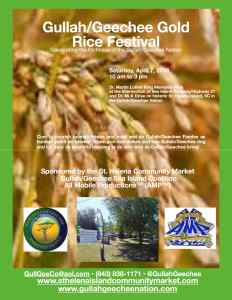 Gullah/Geechee Gold Rice Festival 2018