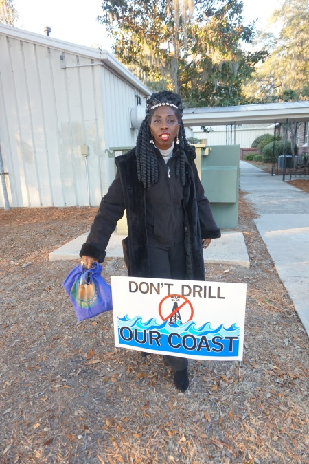 Queen Quet of the Gullah/Geechee Opposing Oil Drilling