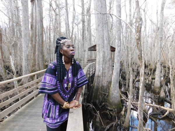 Queen Quet at Beidler Forest on Maroon Cultural Day