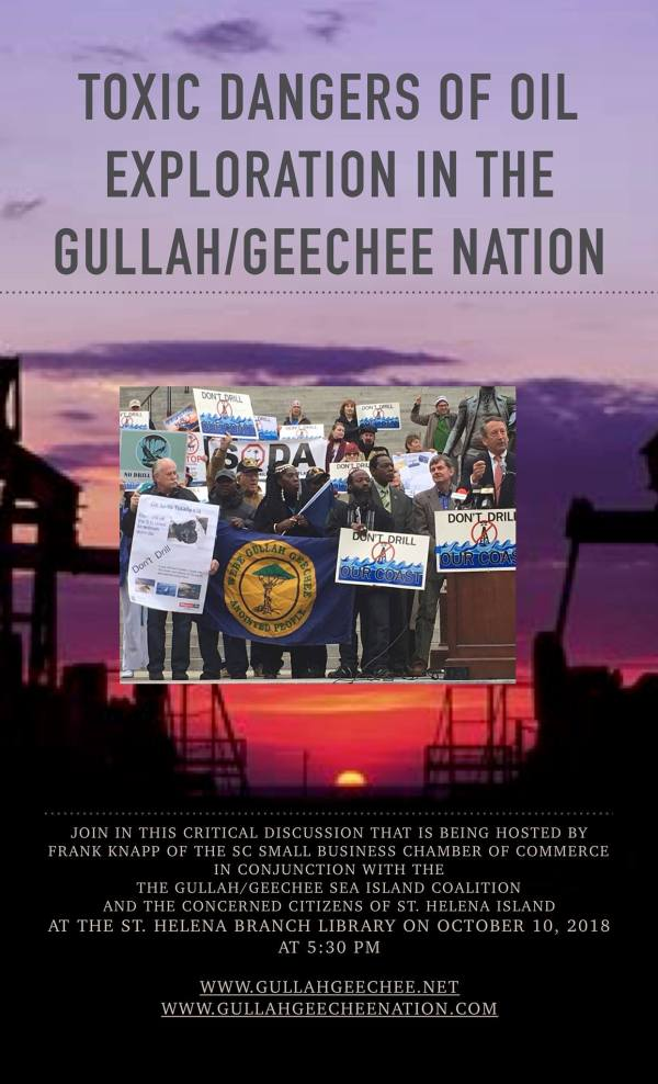 Toxic Dangers of Oil Exploration in the Gullah/Geechee Nation