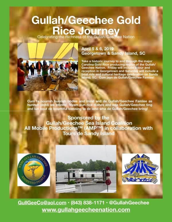 Gullah/Geechee Gold Rice Journey 2019