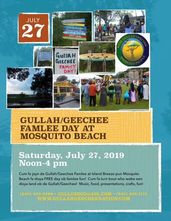 Gullah/Geechee Famlee Day at Mosquito Beach 2019